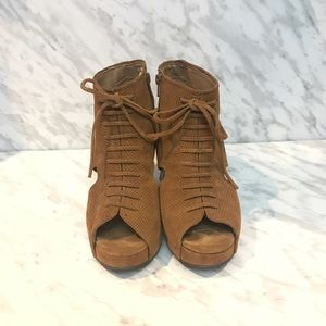 Jeffrey Campbell Mary Rocks Wedge Sandals Size 10